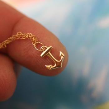 My Tiny Anchor Necklace - 14K Gold Filled Charm Minimalist Necklace Jewelry - All 14k gold filled.